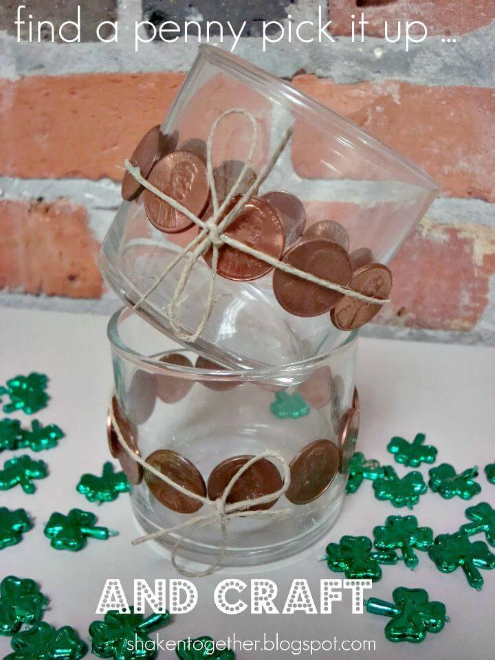 Make Your Own Lucky Penny Votive Holders