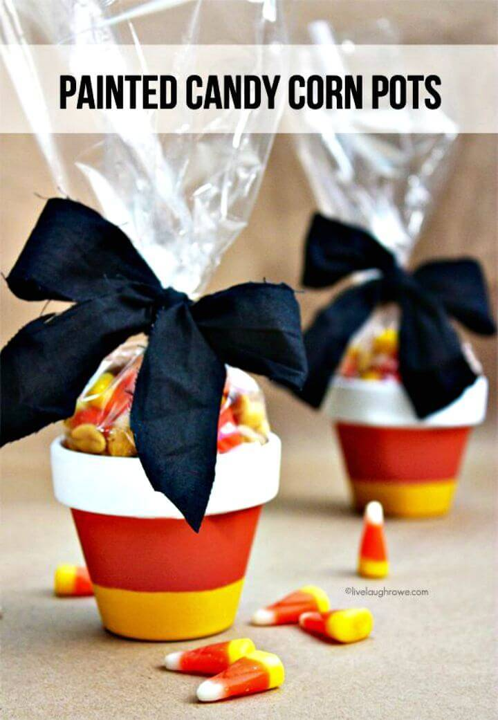 Easy DIY Painted Candy Corn Pots