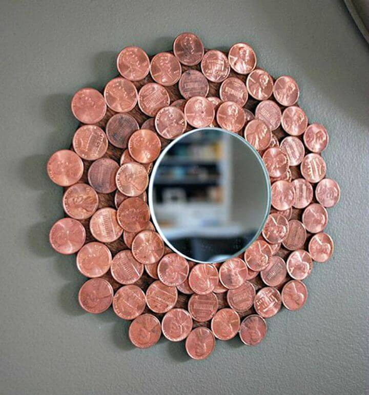 How to Make Penny Starburst Mirror