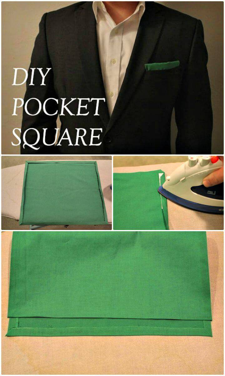 DIY Pocket Square - No Sewing Required