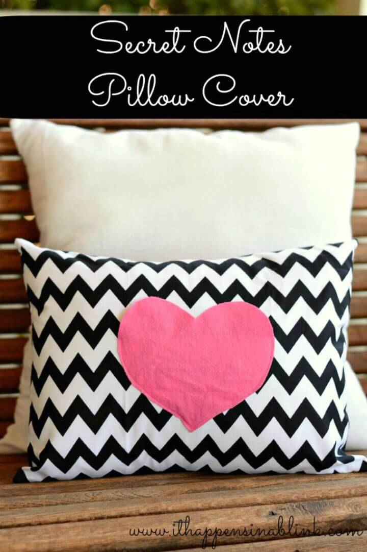 DIY Secret Love Notes Envelope Pillow Cover