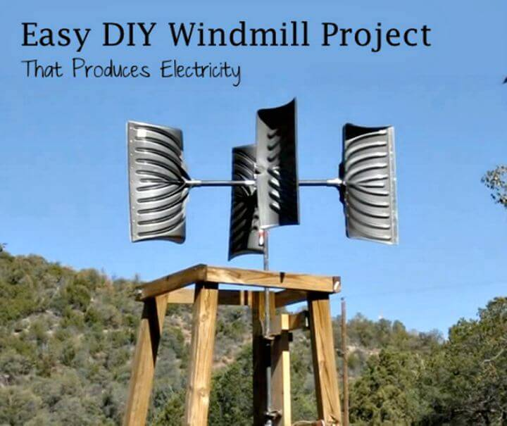 How to Make Snowshovel Windmill For $200 - DIY