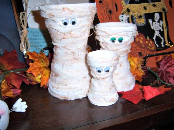 Cute DIY Terra Cotta Mummies Tutorial