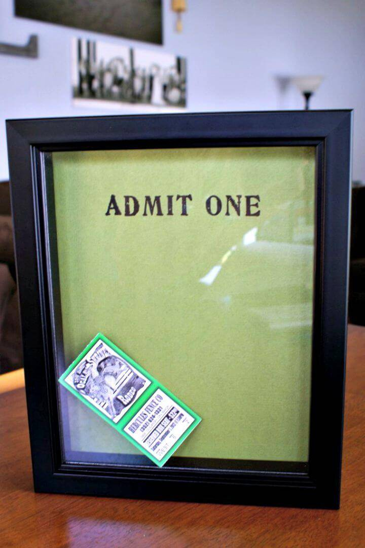 DIY Ticket Stub Memory Box Tutorial