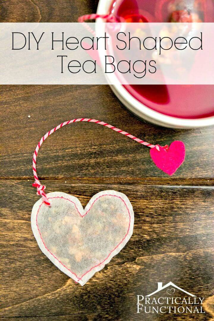 DIY Valentine's Day Heart Shaped Tea Bags