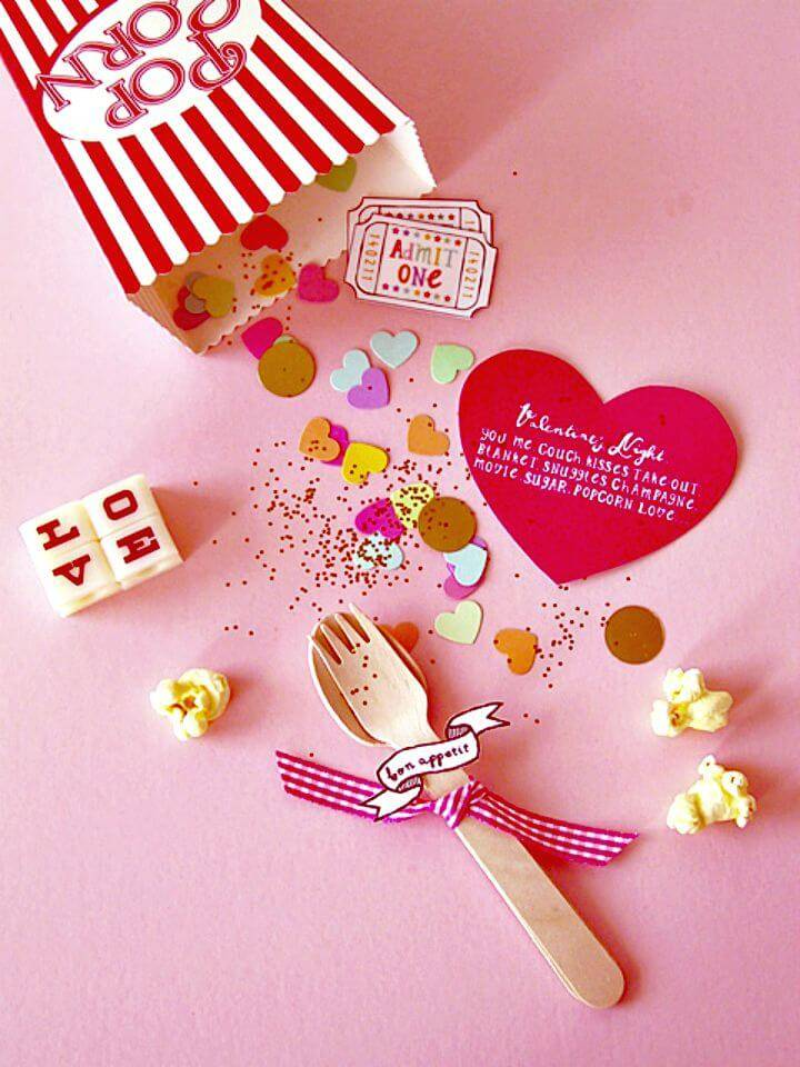 Easy DIY Valentine Popcorn Invitation