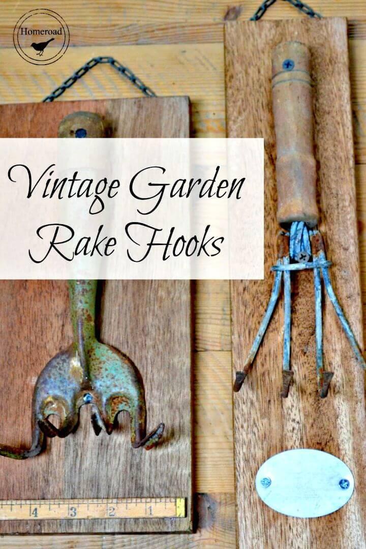 Simple to Make Vintage Garden Rake Hooks