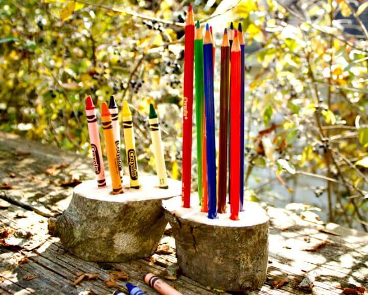 Simple DIY Wooden Crayon Holder