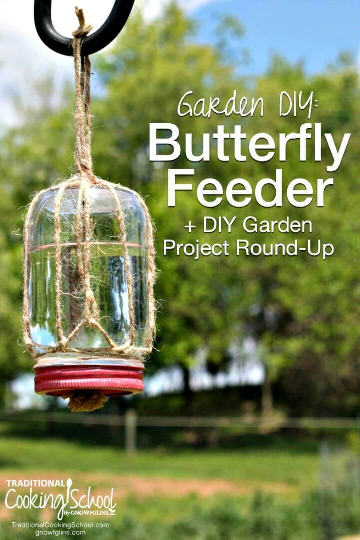 How to Make Mason Jar Butterfly Feeder