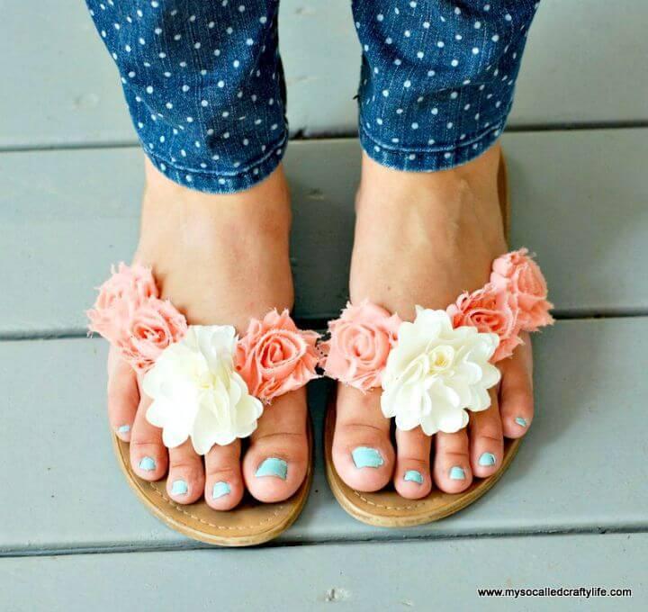 How to Make Floral Summer Sandals - DIY