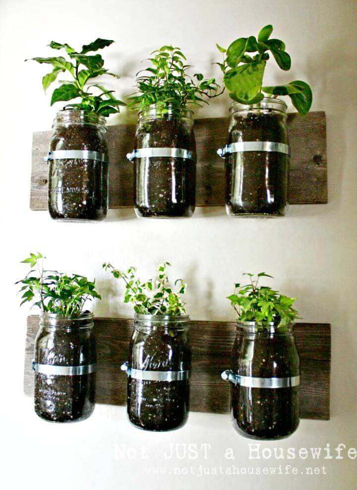 Easy DIY Mason Jar Wall Planter