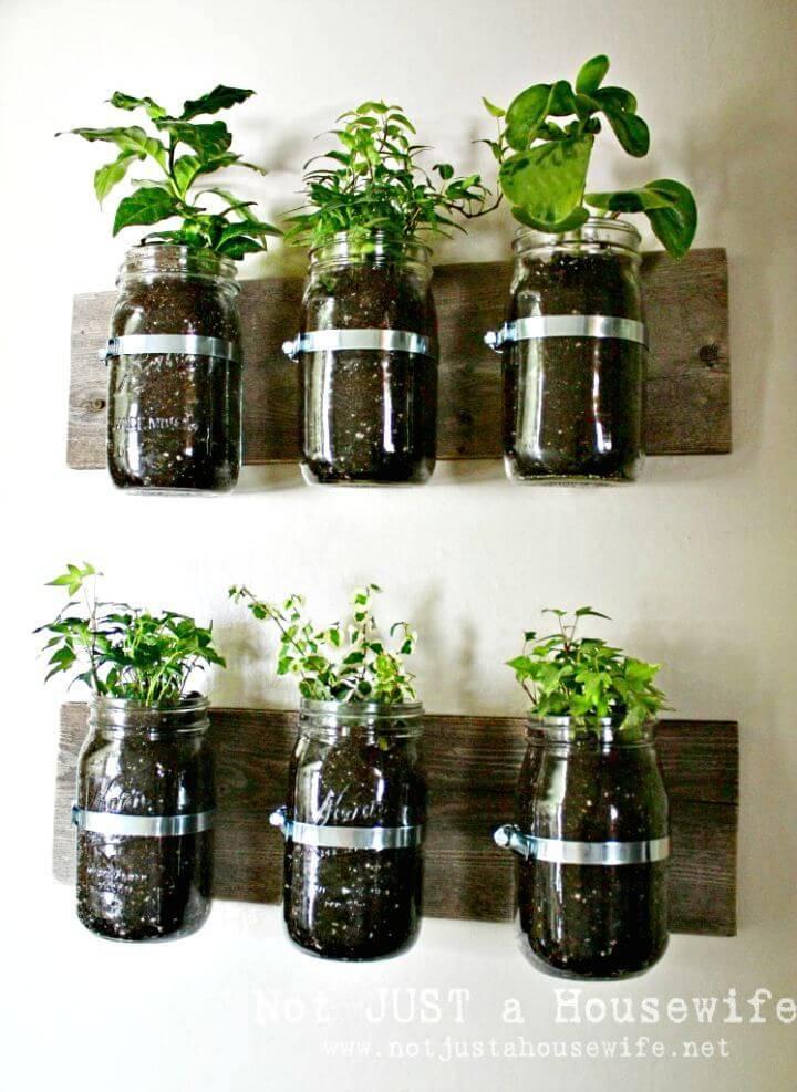 Easy DIY Mason Jar Wall Planter