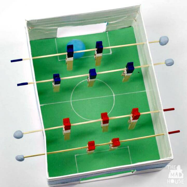 Make a Shoebox Foosball Table