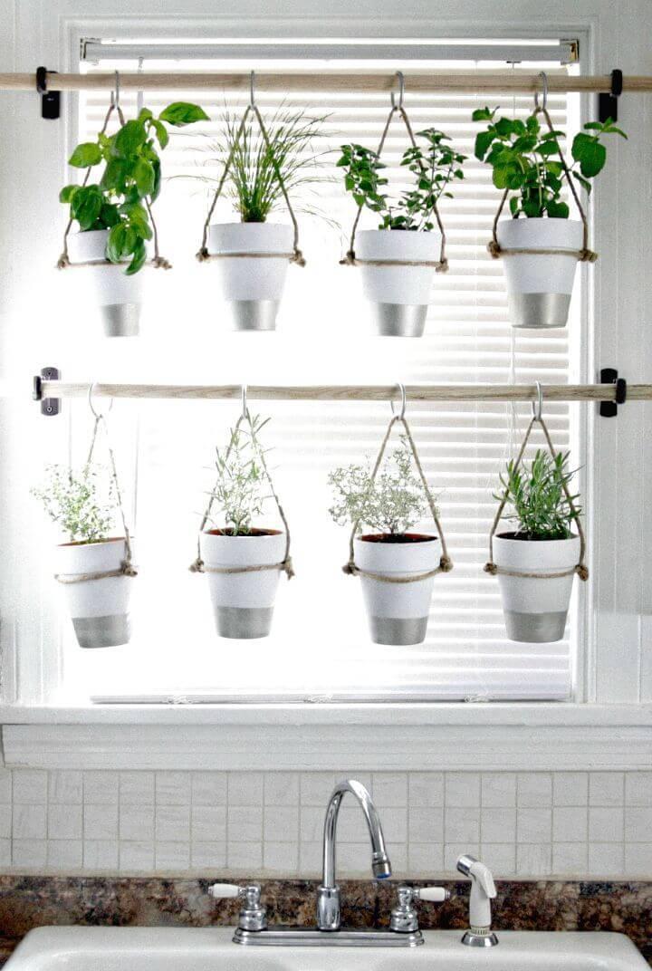 Easy DIY indoor Hanging Herb Garden
