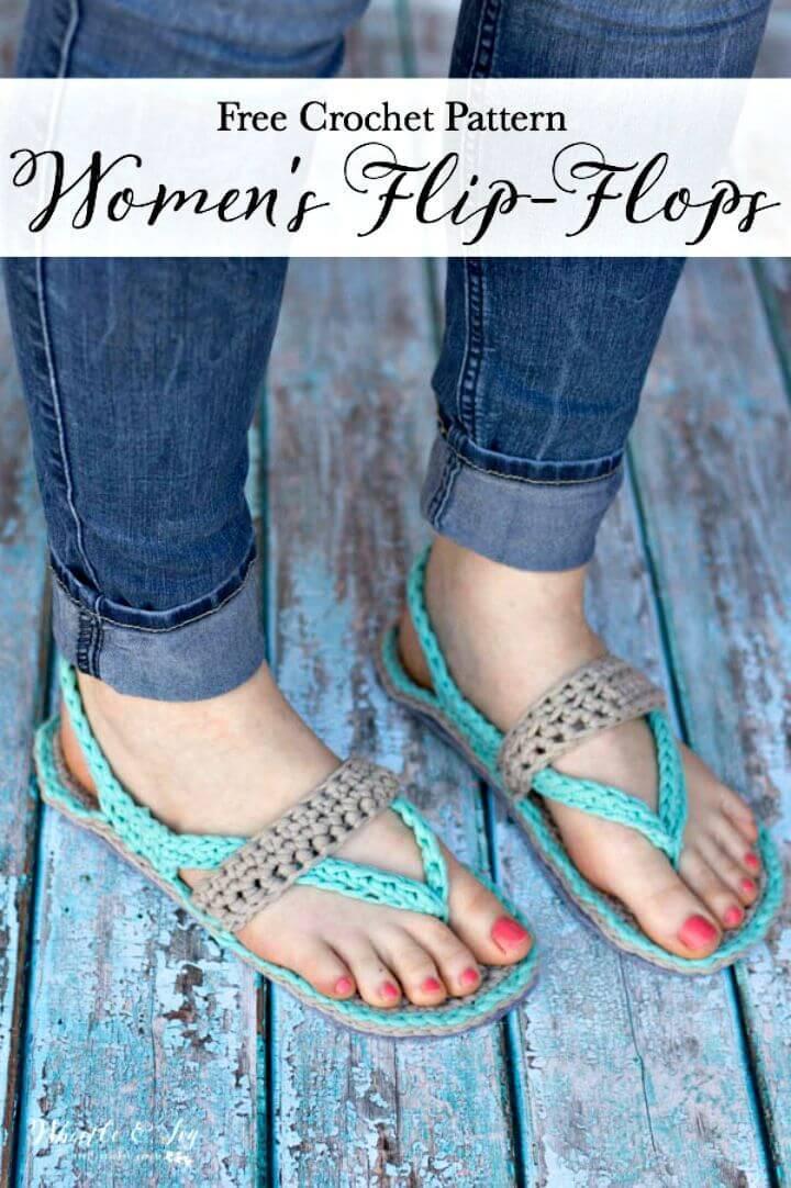 Free Crochet Women's Flip-Flops Pattern