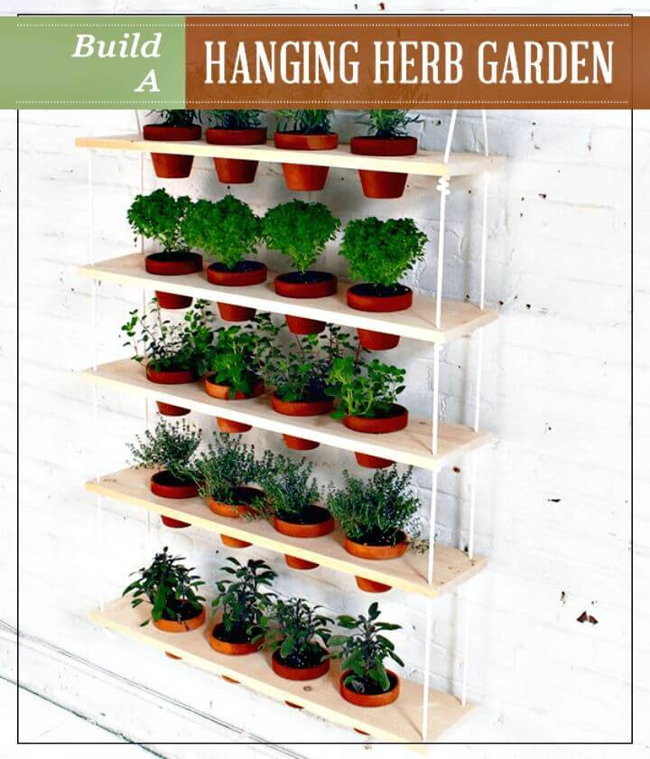 Gorgeous DIY Hanging Herb Garden