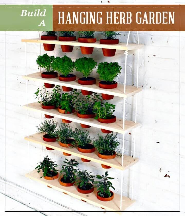 Gorgeous DIY Hanging Herb Garden