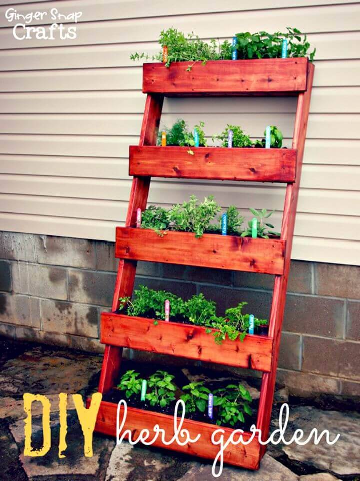 How to Build Vertical Herb Garden - DIY