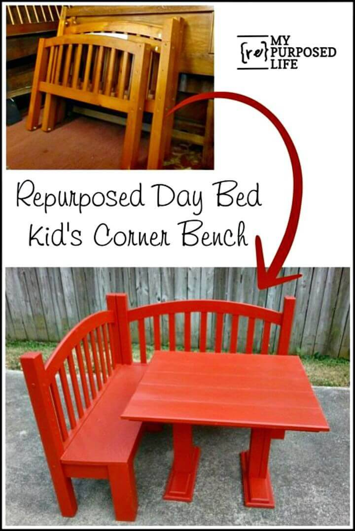 How to Build Kids Corner Bench - DIY Ideas for Outdoor