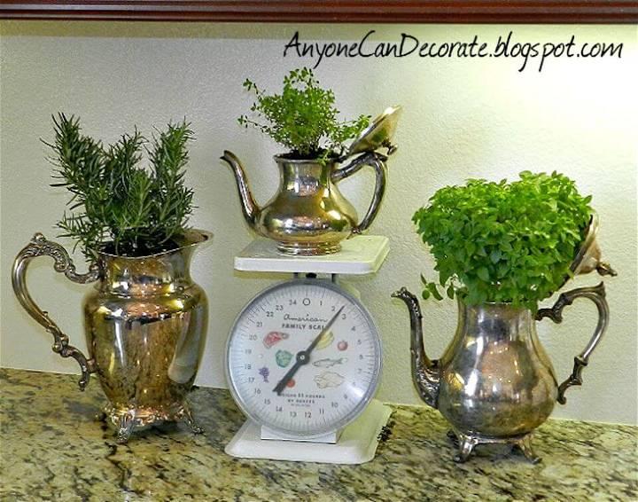 How To Create Kitchen Herb Garden Cuteness - DIY