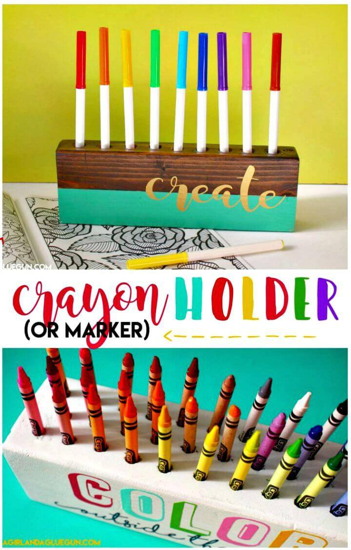 Awesome DIY Crayon Holder