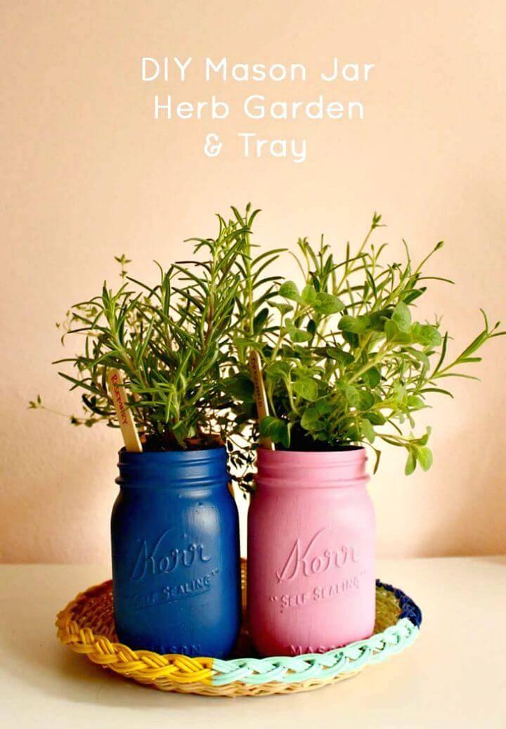 How To Make Mason Jar Herb Garden