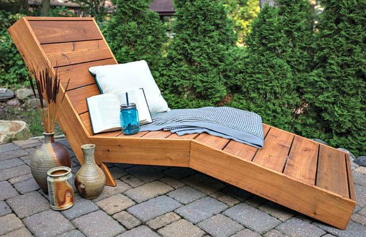 How to Make Outdoor Chaise Lounge - DIY