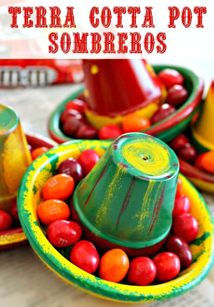 How To Make Terra Cotta Pot Sombreros - DIY