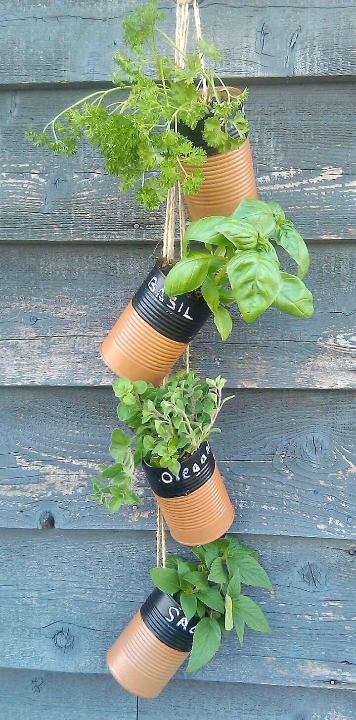 How To Make Upcycled Herb Garden