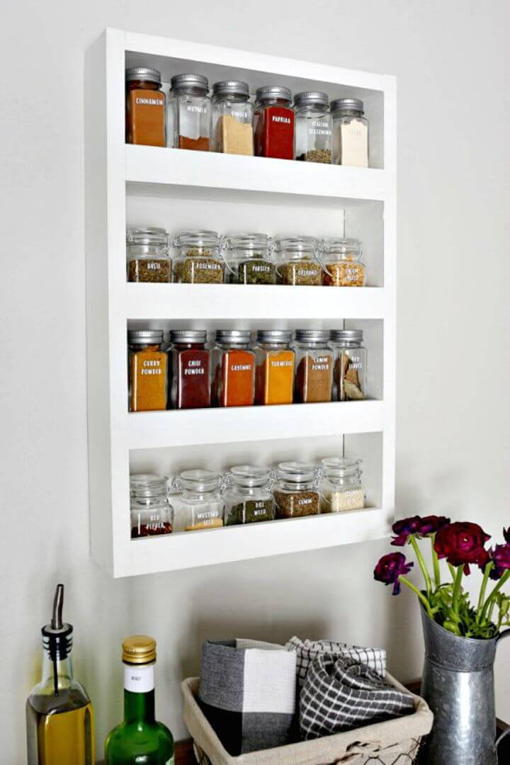 How to Make Wall Spice Rack - DIY Storage Projects