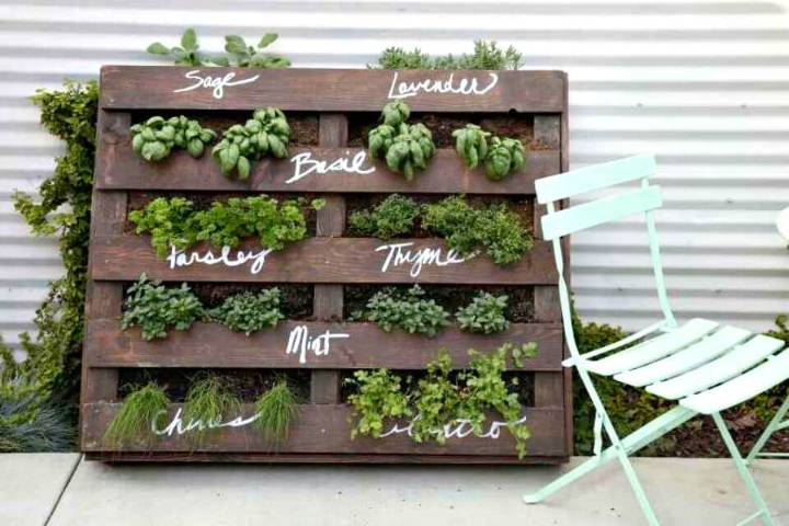 How To Make Wood Pallet Herb Garden