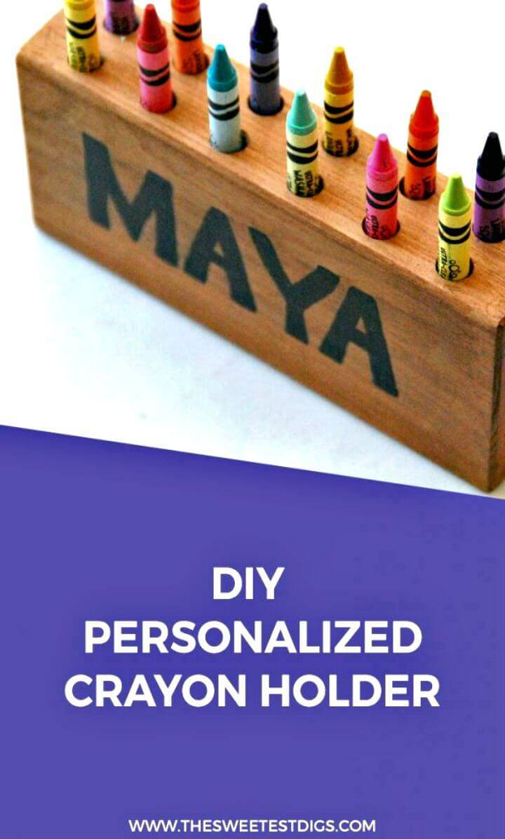 DIY Personalized Crayon Holder