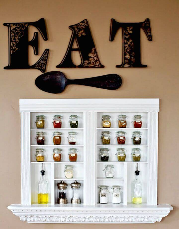 How to Build Spice Shelves - DIY Storage Ideas