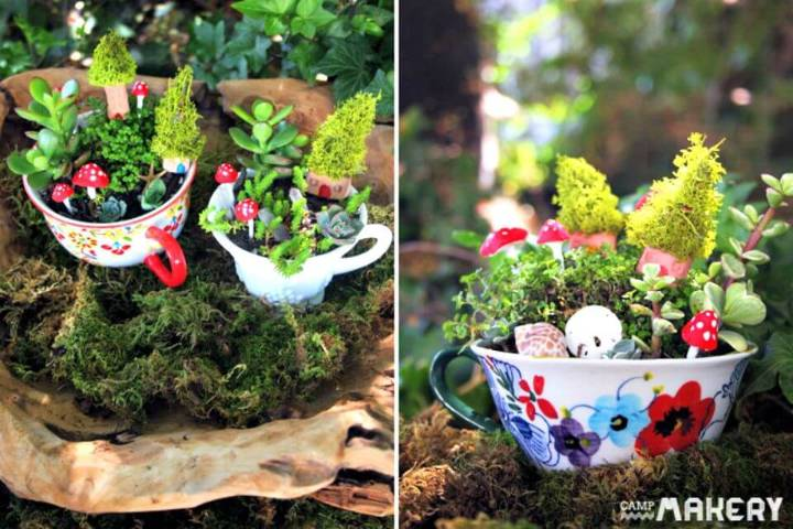 How to Create a Miniature Teacup Herb Garden - DIY