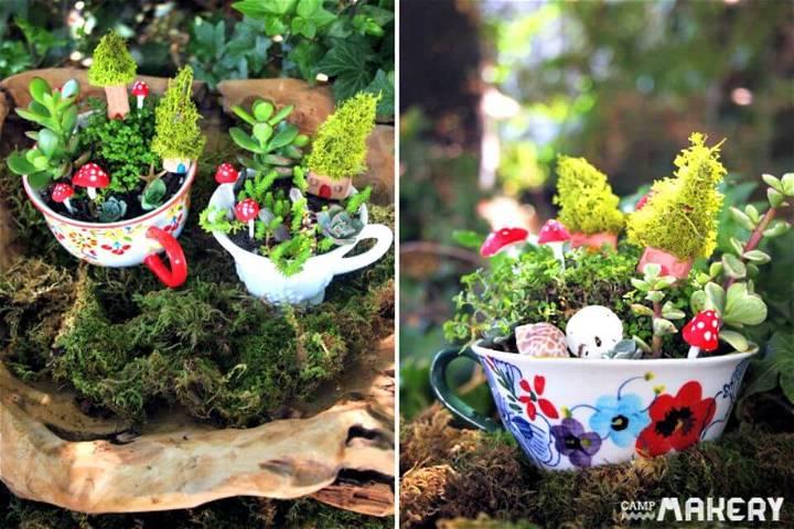 How to Create a Miniature Teacup Herb Garden - DIY