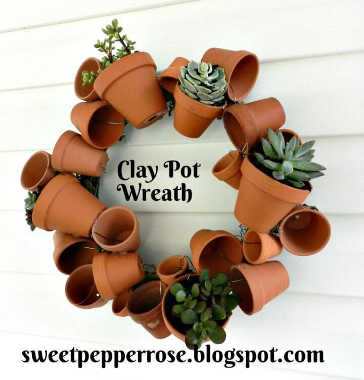 How to Make Clay Pot Wreath - Terra Cotta Pots Crafts