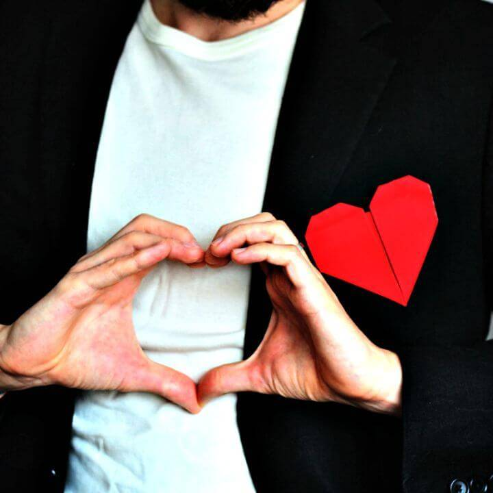 Sew An Origami Heart Pocket Square - DIY