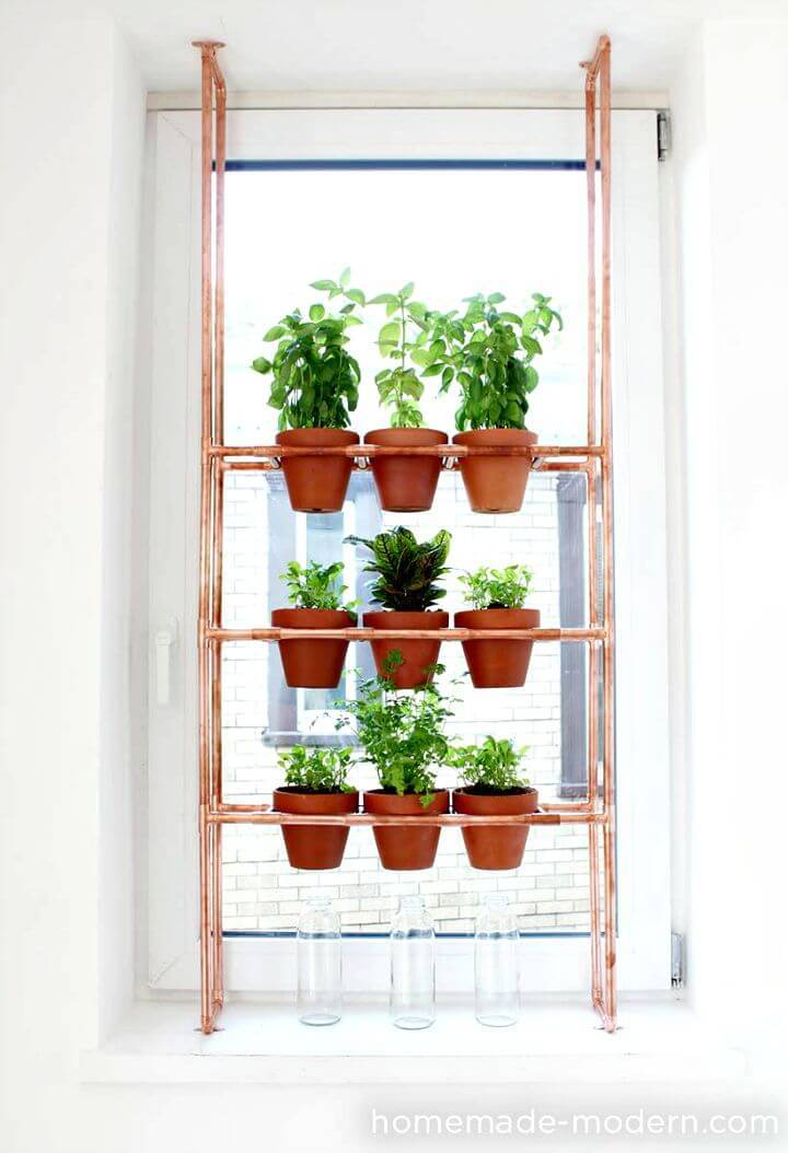 How to DIY Copper Herb Garden