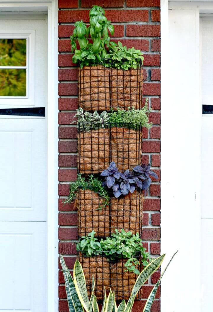 Make Your Own Vertical Herb Garden - DIY