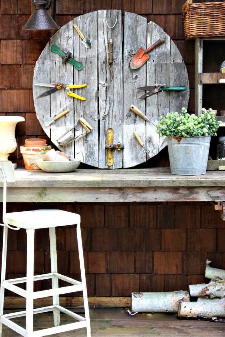 Make a Garden Pallet Wall Clock - DIY Wooden Project