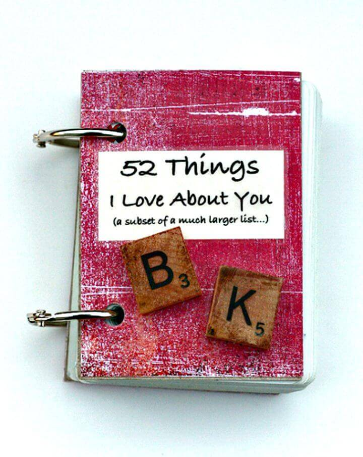 DIY Little Book - Valentine Gift Idea