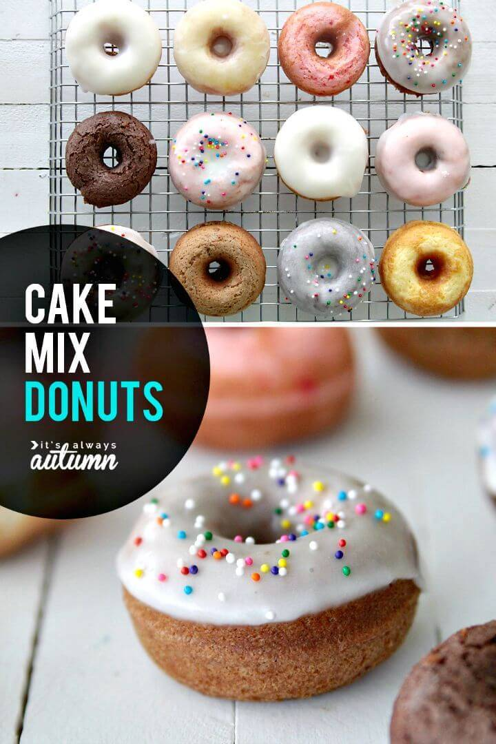 aked Cake Mix Donuts Recipe - Quick & Easy DIY