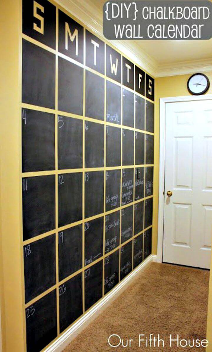 Adorable DIY Chalkboard Wall Calendar Tutorial