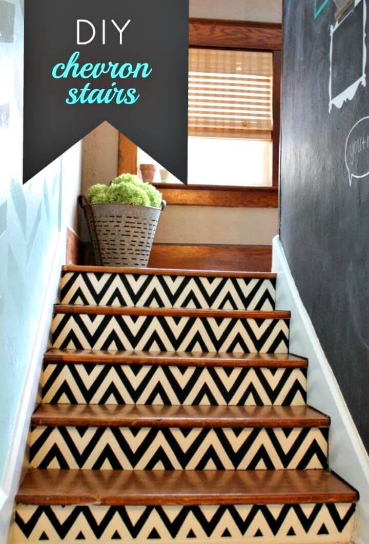 How to make Chevron Stairs - DIY Home Decor Ideas