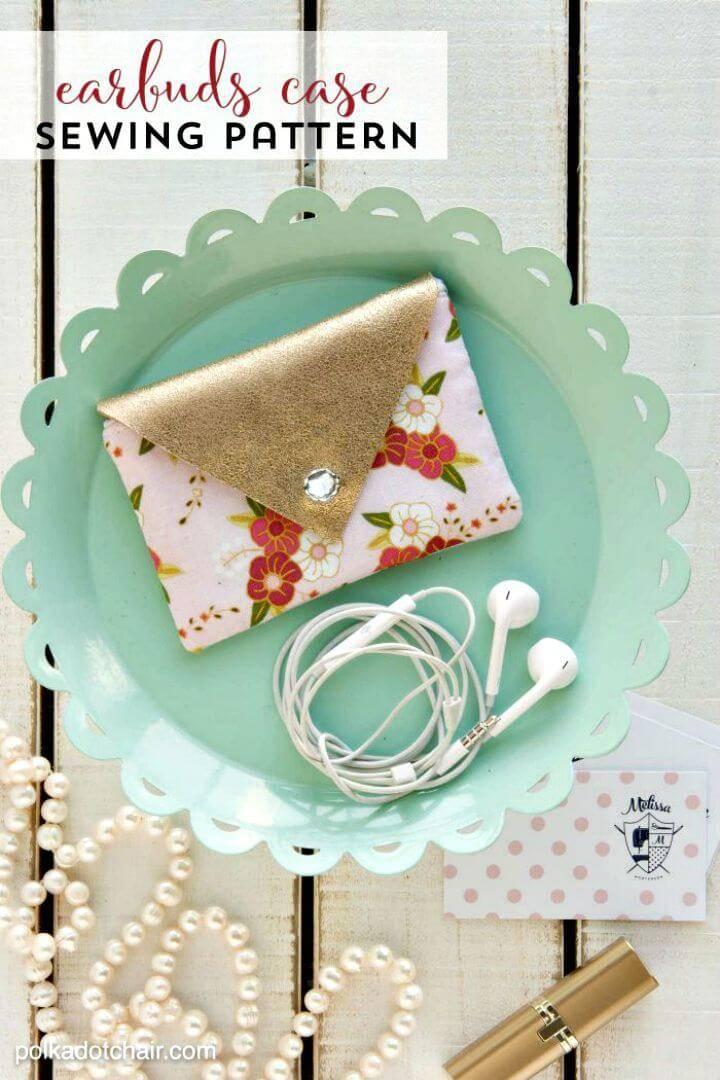 DIY Earbuds Case Sewing Pattern