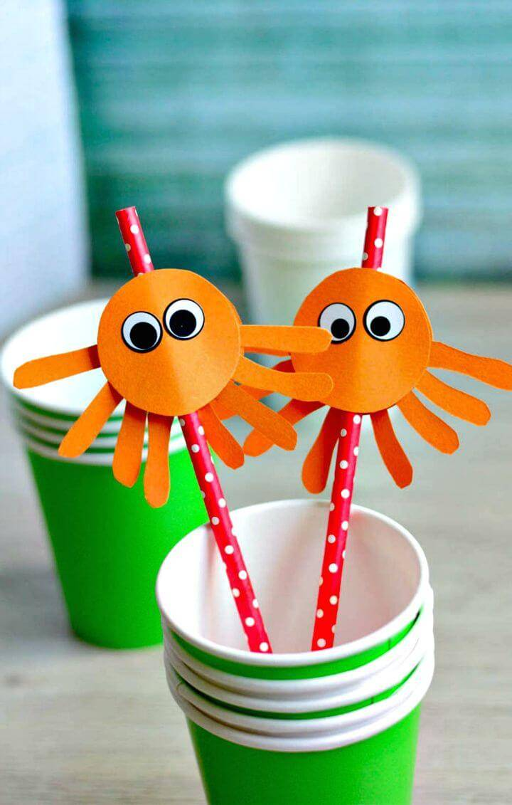 How to Make Octopus Straw Toppers