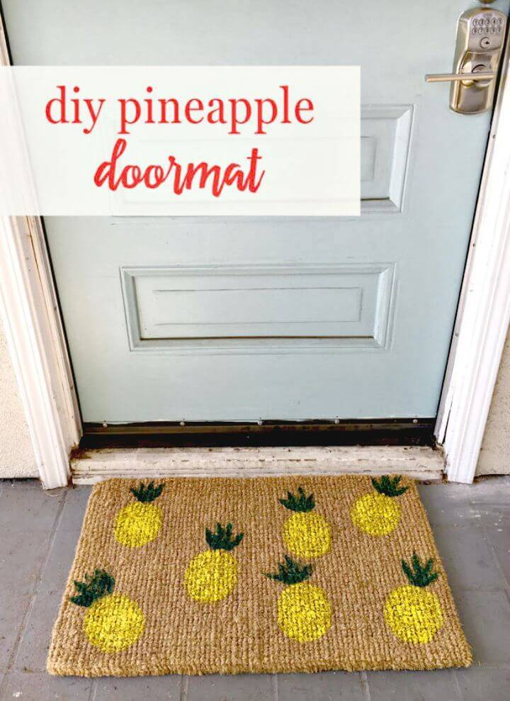 Easy DIY Pineapple Doormat - Free Tutorial