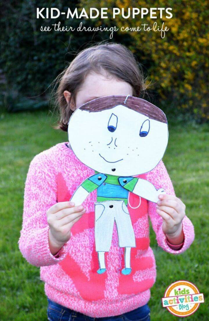 DIY Kid-Made Painted Puppets