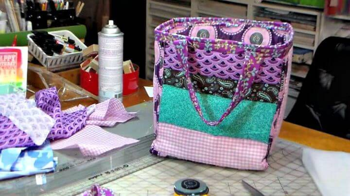 DIY Quilted Lunch Bag
