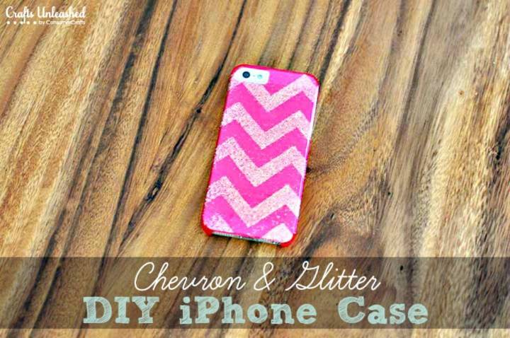 Qucik DIY Chevron Glitter IPhone Case